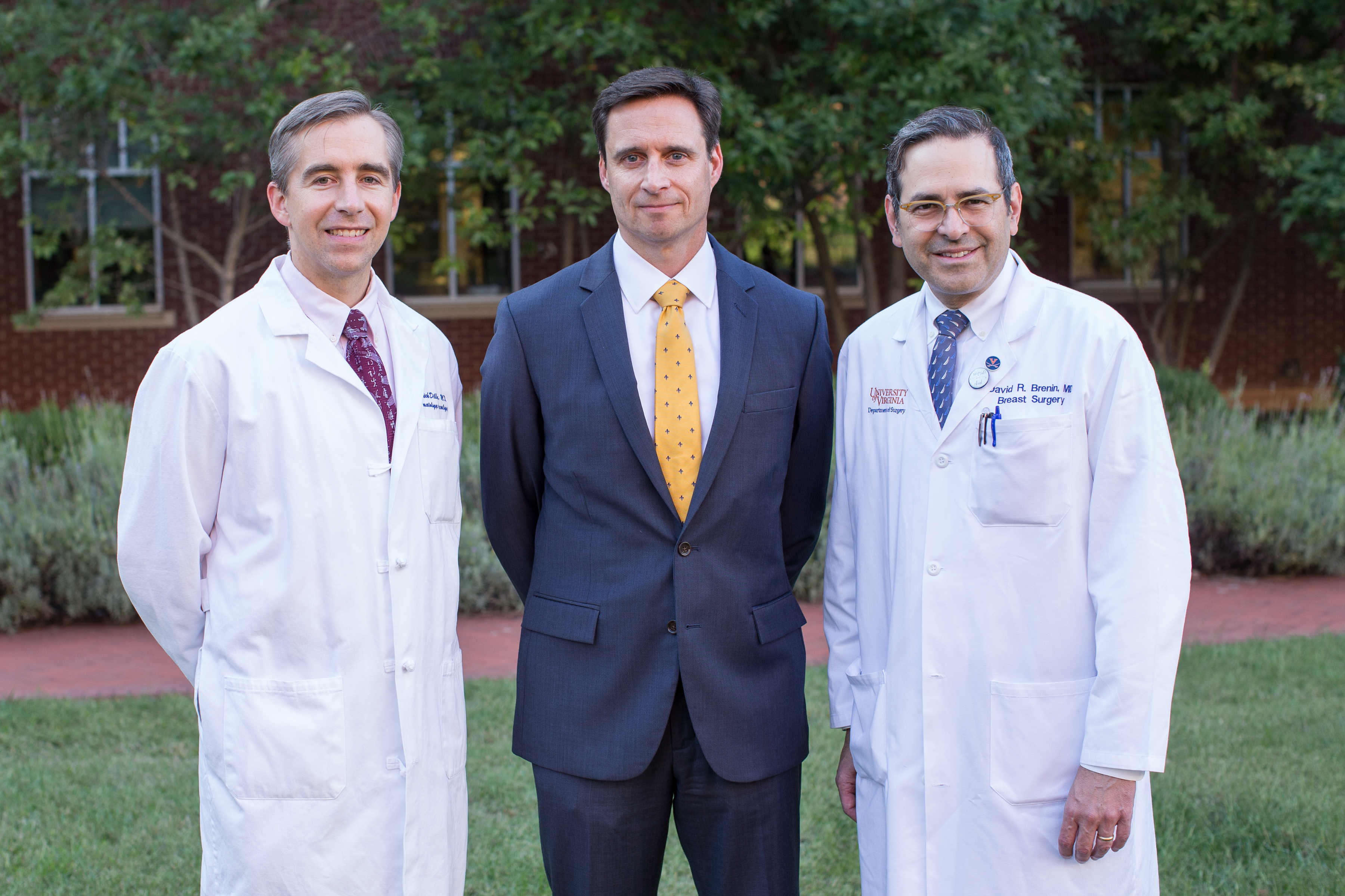 From left to right: Patrick Dillon, MD, Richard Price, PhD, and David Brenin, MD