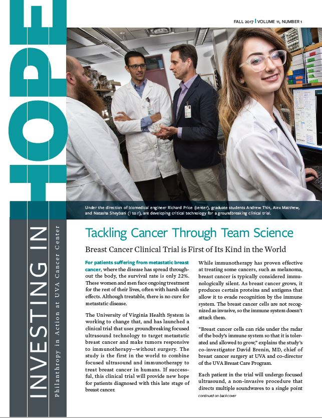 Investing in Hope fall 2017 cover