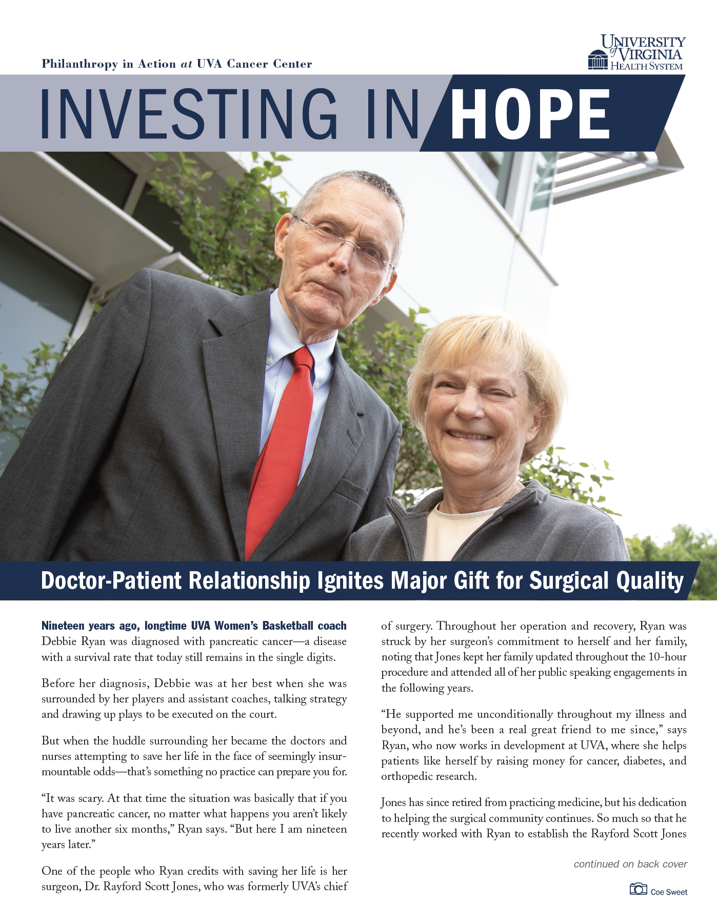 Thumbnail of the cover of the print issue of Investing in Hope