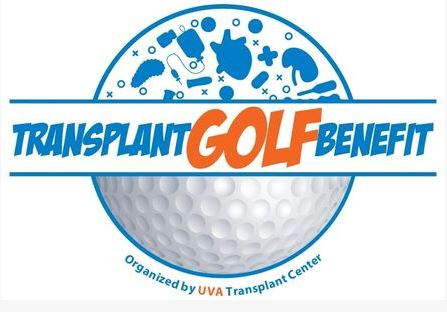 Transplant Golf Benefit logo with golf ball and text