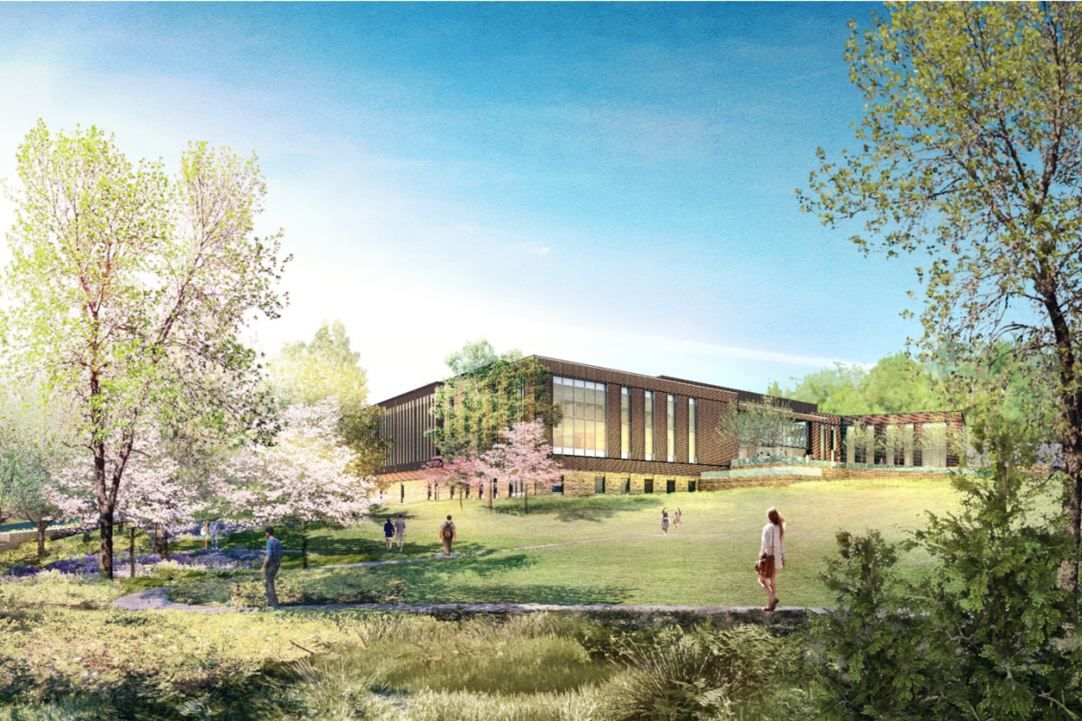An illustration of what the Ivy Mountain building will look like.