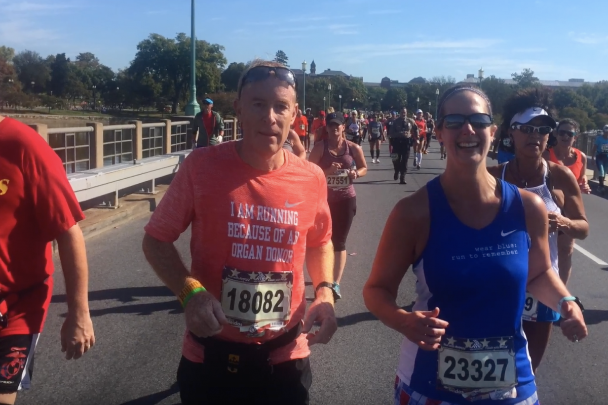Steve Nugent runs in the Marine Corps Marathon.