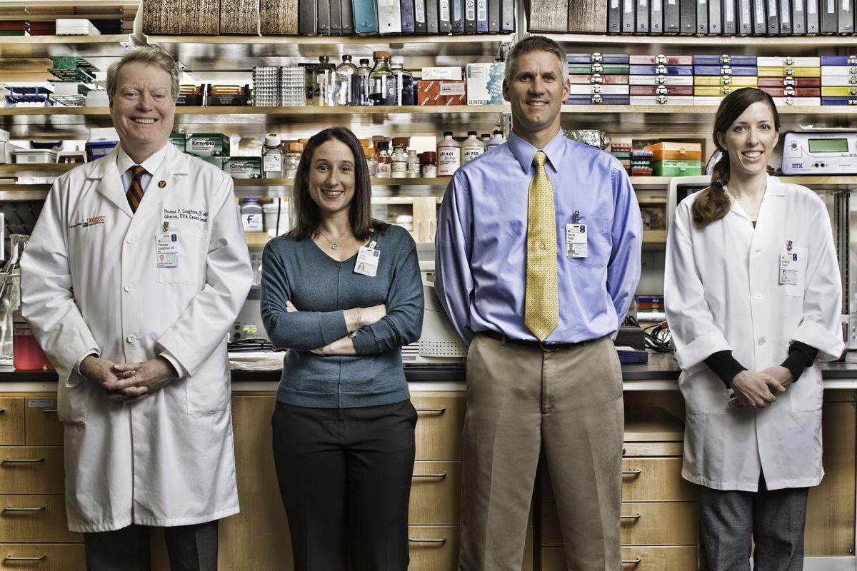 UVA's LGL research dream team stands in the lab.
