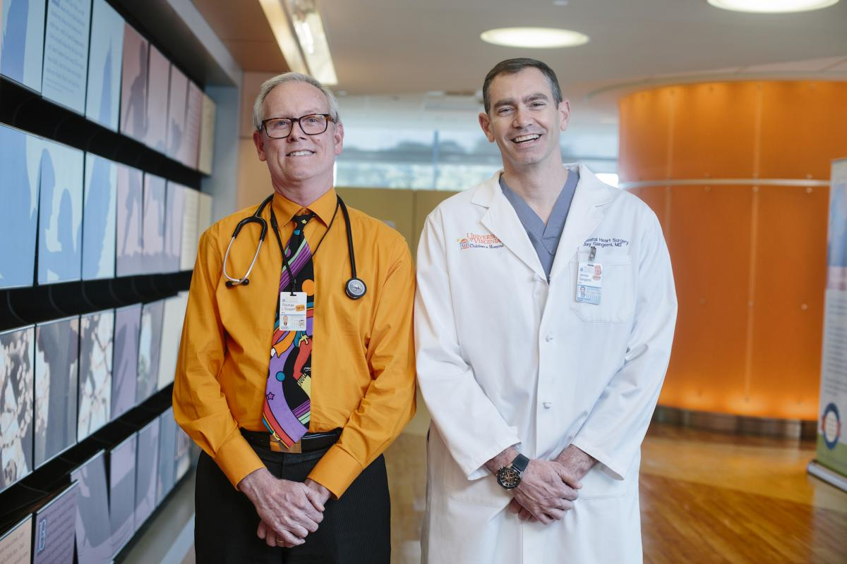 Dr. Thomas L'Ecuyer and Dr. James Gangemi stand side by side smiling.