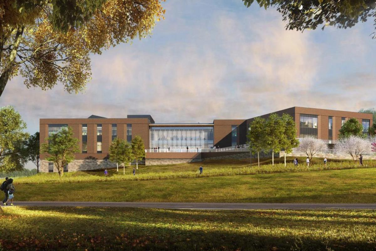 A rendering of the new Ivy Mountain orthopedic facility