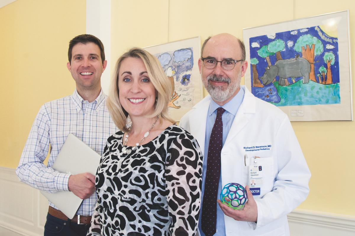 Neuroscientist John Lukens, clinical psychologist Micah Mazurek, and developmental pediatrician Rich Stevenson (l to r)