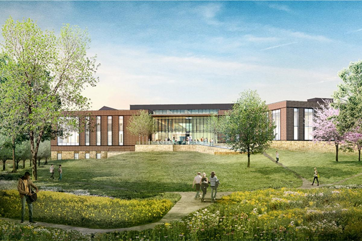 Rendering of the new UVA orthopedic facility.