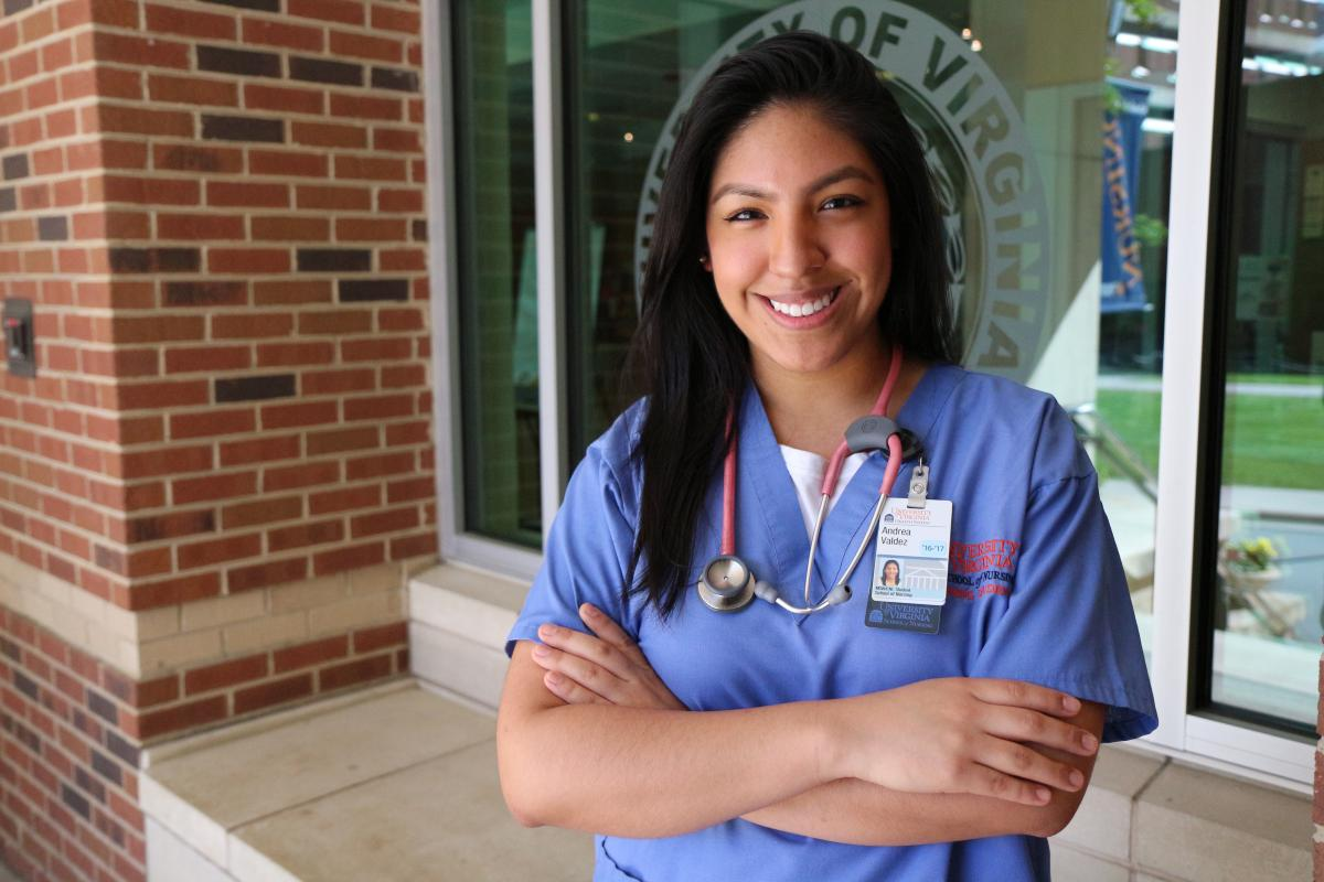 Andrea Valdez is a recipient of a Conway Scholarship for the Clinical Nurse Leader program at UVA.