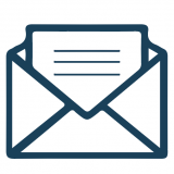 Letter in envelope icon