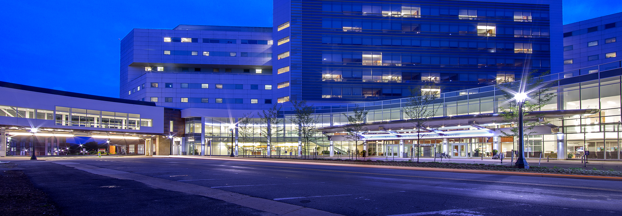 UVA Medical Center at Night